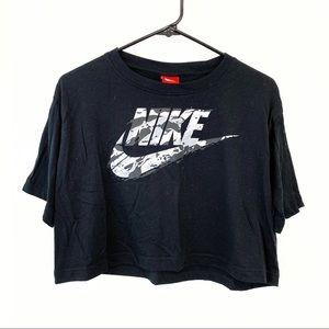 Nike Cropped Camo Logo Tee